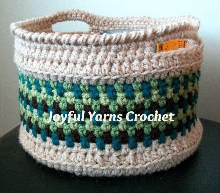 Magnificent Moss Basket FREE Pattern by JoyfulYarns/Craftsy.com ✿⊱╮Teresa Restegui http://www.pinterest.com/teretegui/✿⊱╮