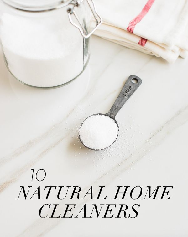 10 DIY Natural Home Cleaners | theglitterguide.com