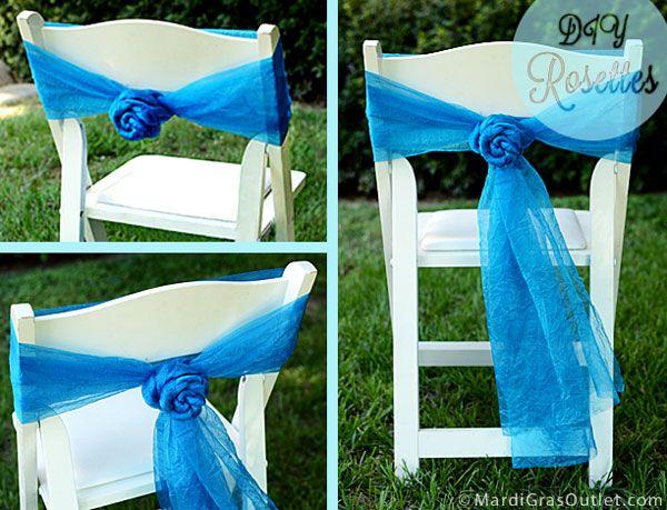 DIY Chair Sash Rosettes A Tutorial  Weddings  Diy chair