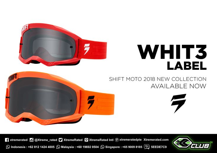 Clear vision | SHIFT MX WHIT3 LABEL GOGGLES |  Available now in all XCLUB leading stores |  #xtremerated #xclub #shiftmx #mx #dirtbike #goggles