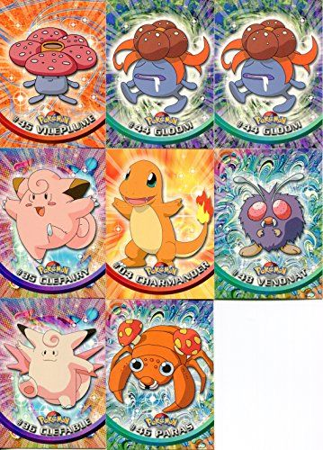 Topps Pokemon Trading Cards 8 Card Lot With Vile Plume
