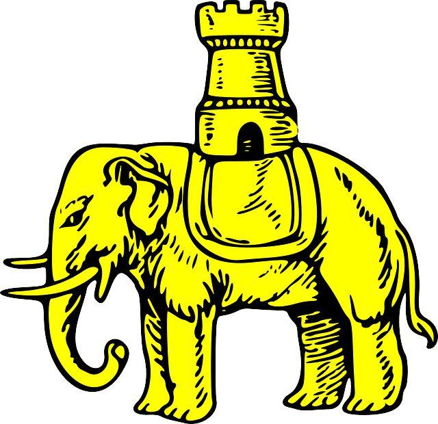 building-castle-shield-elephant-gold-coat-arms.png (640×620)