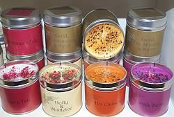 Seriously Scented Christmas Candle Tins
