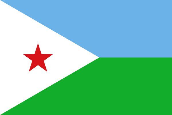 Bandera de la República de Yibuti.