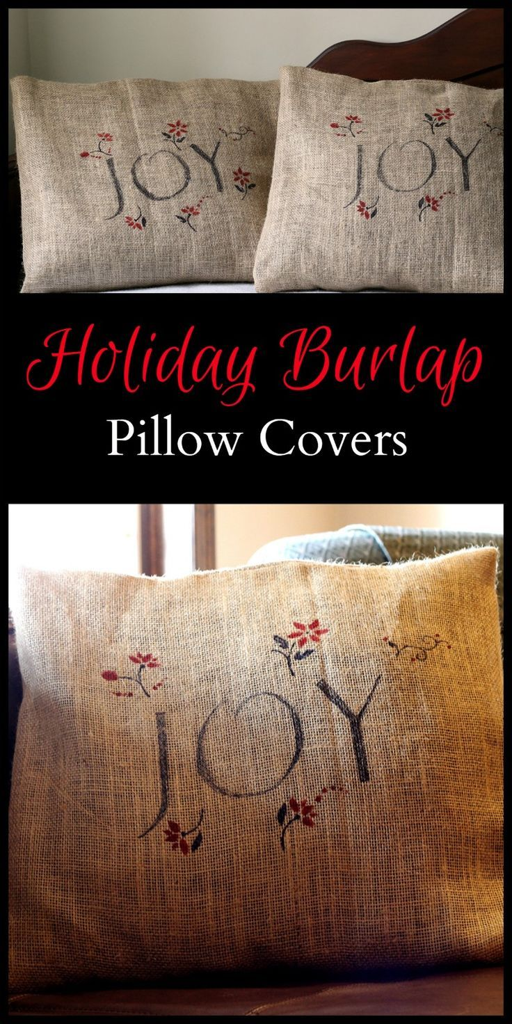 The 378 Best Images About Pillows On Pinterest Vintage Story Cushion Shabby Patchwork 60x60cm 2 Holiday Burlap Pillow Covers