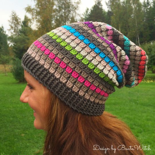 "My most popular pattern! In Sweden it is called ""the BautaWitch beanie"" and all the teenagers love it - both boys and girls. Free pattern (translation button available) at BautaWitch.se. Welcome!"