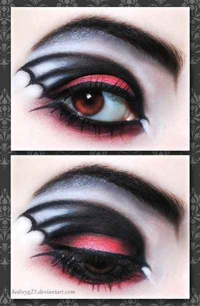 bat eyes :-)Bats Wings, Halloween Eye, Eye Makeup, Halloween Costumes, Halloween Makeup, Makeup Ideas, Eyemakeup, Halloween Ideas, Halloweenmakeup