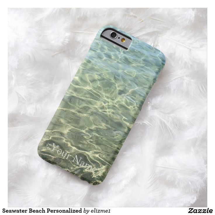 Seawater Beach Personalized Barely There iPhone 6 Case