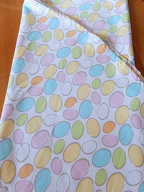 Vintage Easter Tablecloth Pastel Easter Eggs Round By Brixiana