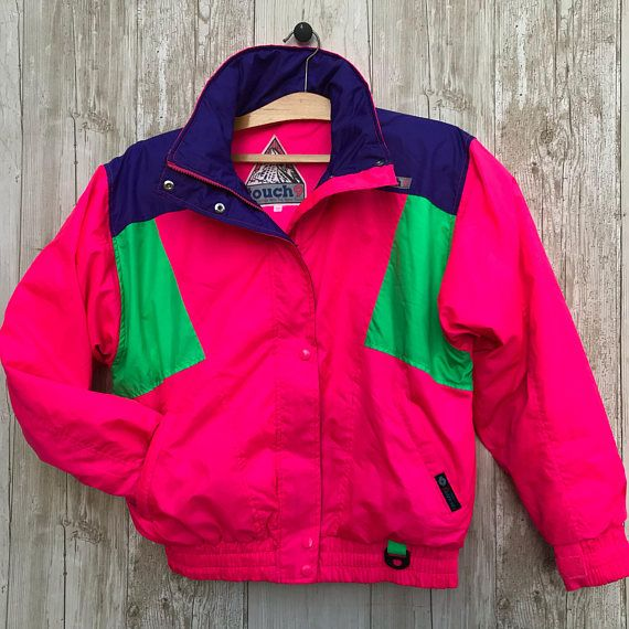 RETRO Ski Bomber jacket Neon Bright 80s 90s for parties and