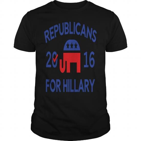 Awesome Tee  Republicans For Hillary by vectorplanet----SOGOALP T shirts