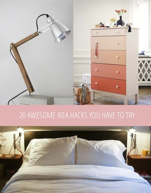 Ombre dresser and 19 Ikea hacks to try!