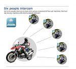 cool V6-1200 Meter drahtlose Bluetooth-Sprechanlage Motorrad-Sturzhelm Bluetooth Intercom wasserdicht winddicht Headset im Freien Radfahren,Skifahren,Bergsteigen