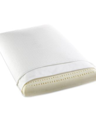 I Am Resilient Latex Foam Standard Pillow - White