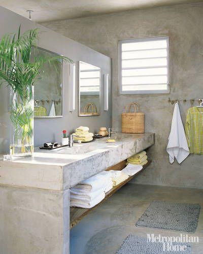 Luxury Bathroom Designs and Ideas - Luxury Bathrooms Photos - ELLE DECOR polished concrete