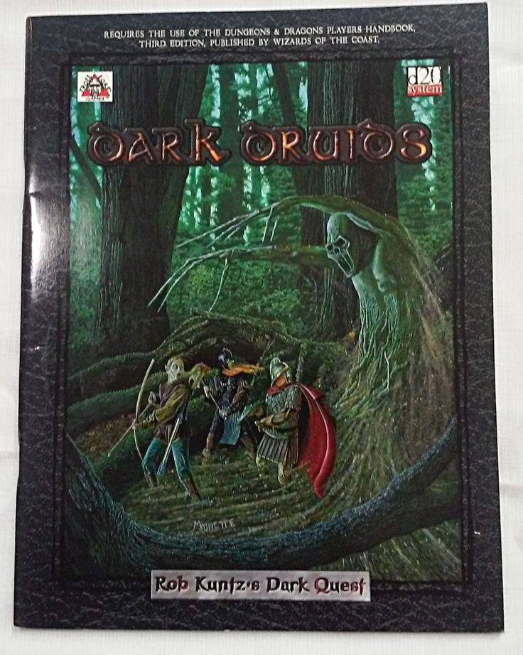 Dark Druids SoftCcover - Troll Lord Games d20 3rd Edition  #TrollLordGames