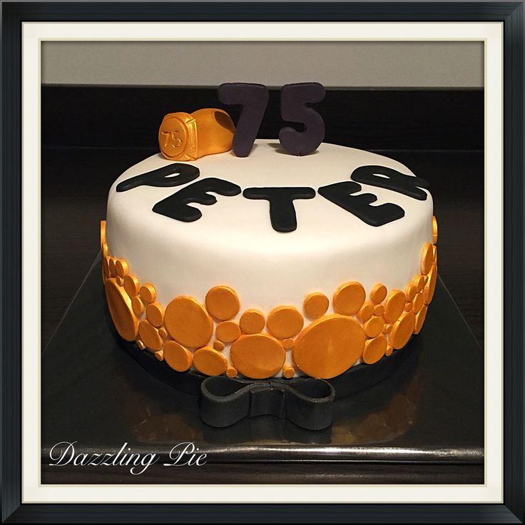 75th birthday cake made by Dazzling Pie