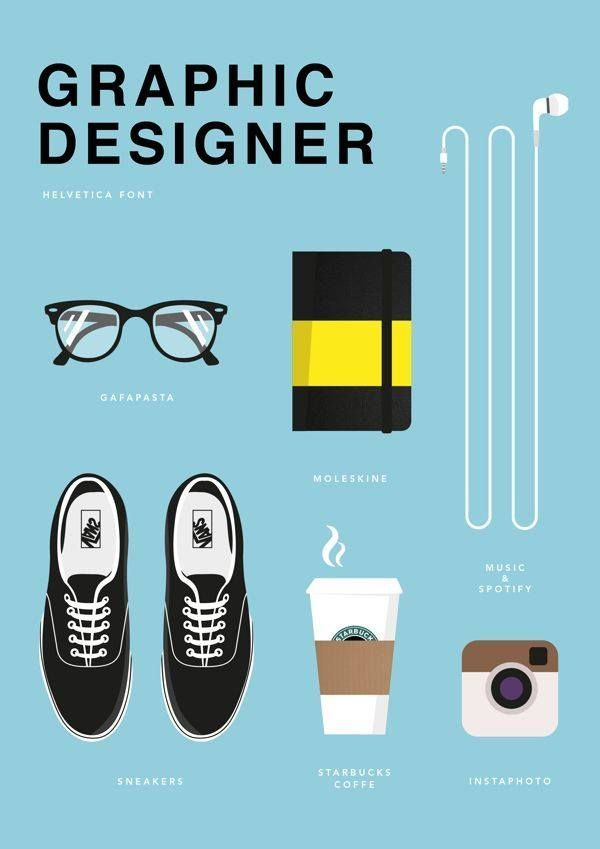Inspiration / Graphic Designer – It's true… I do work better with coffee, music… and my glasses on…