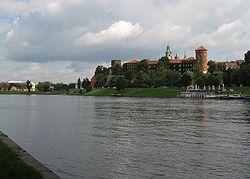 Polonia - El Vístula a su paso por Cracovia.