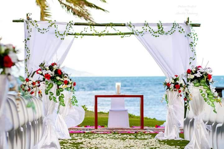 Beachside tropical setup