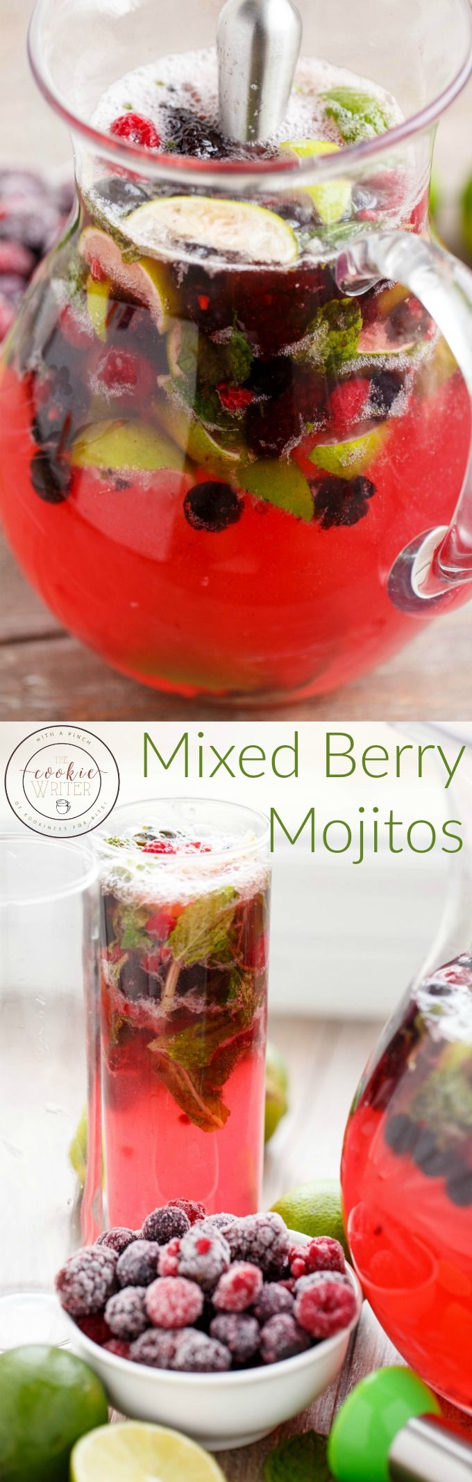 Mixed Berry Mojitos   http://thecookiewriter.com   @thecookiewriter   #drink