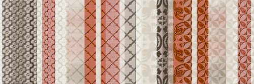 Vitrail Rosso 25x75 cm.  Wall tiles | Aquarelle series | Arcana tiles | arcana ceramica