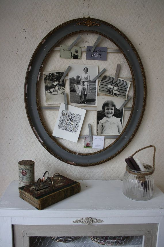 I think this is my favourite frame to date! It is perfectly shabby and French and I have upcycled it using Grey Chalk Paint but leaving the gilt to