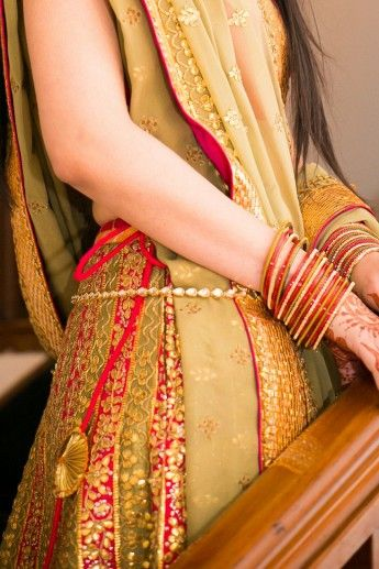 Bridal Details - Unique Olive green lehenga | WedMeGood #wedmegood #bridal