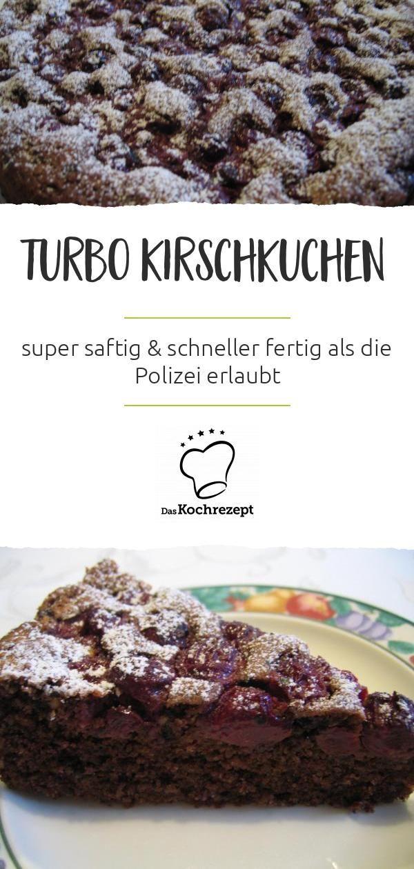 Turbo Kirschkuchen – das ist der Hammer: Mit dem Rezept gelingt dir ein super …   – Kuchen, Torten, Backrezepte