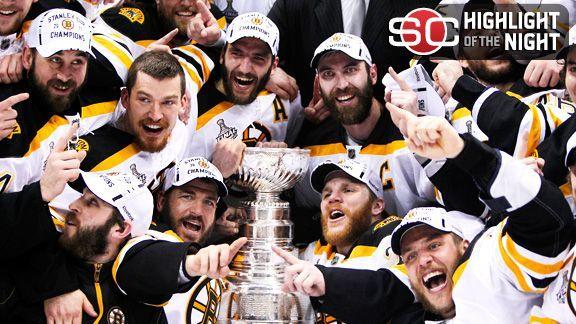 Los Bruins de Boston son mi equipo de hockey favorito. Ganaron la copa de Stanley en 2011.