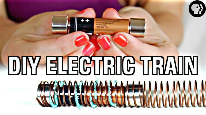 How do you take copper wire, a battery and magnets and make an electric train? #mathscience