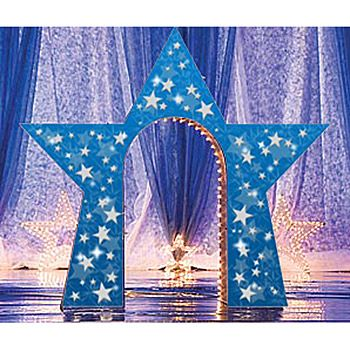 Custom Creation Starry Night Arch - Star Shaped, Party Decorations
