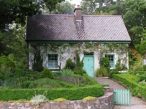 Nowhere have I seen more exquisite cottage living as in the Irish countryside- and most all of them had a garden area (practical yet beautiful) and smoke rising from the chimney.