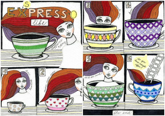 EX(s)press-o life, my comic story about caffeine temptation