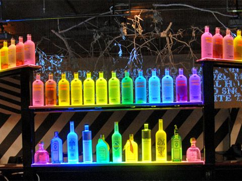 LED Lighting Displays for Nightclubs, Lounges, Hotels and Bars #barshelves