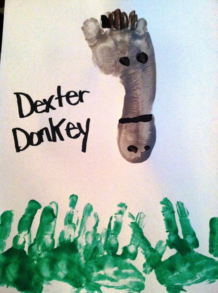 Donkey Footprint Hands And Feet Arts And Crafts