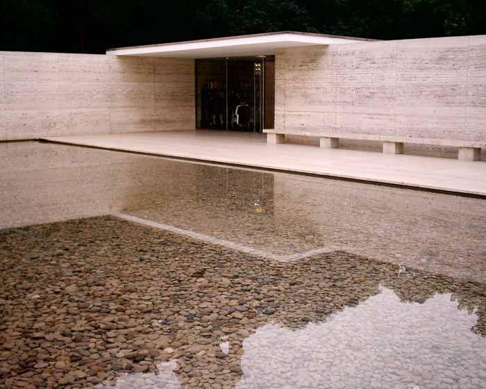 German Pavilion´ or 'Mies van der Rohe Pavilion'  Location: Hill of Montjuic, southwest Barcelona    Date: 1929; pavilion building reconstruction 1983-86  Design: Mies van der Rohe, Architect