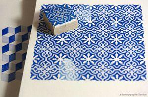 tampons imitation carreaux de ciment Tampographe Sardon