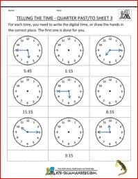 Awesome Time Worksheets ... free math worksheets
