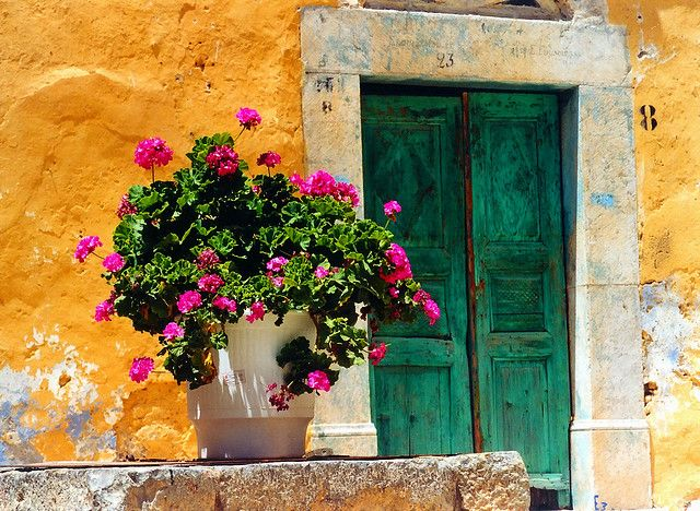 colours bursting in Chios, Greece