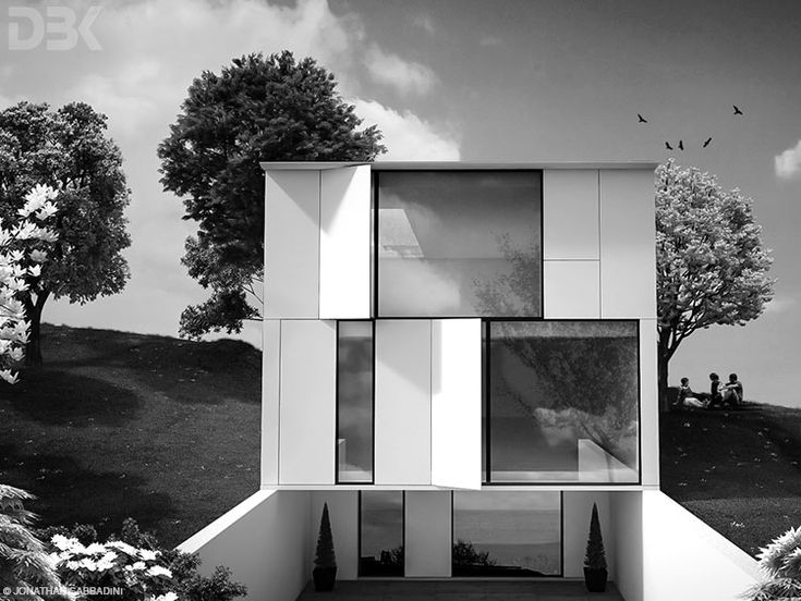 Villa sulla collina, concept render. © Jonathan Sabbadini  #rendering #3D #architettura