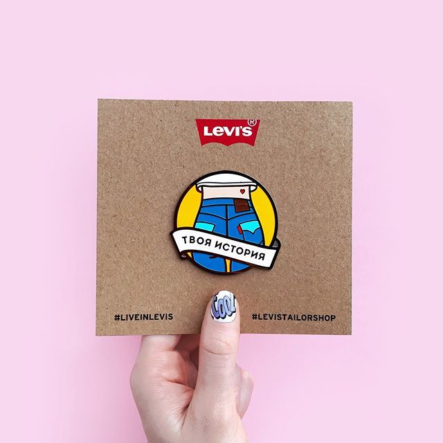 Минутка гордости) Значки и патчи совместной коллаборации Serious About & Levi's уже в туре Tailor Shop по городам России 🤘🏻Так приятно когда значки и масштабность проекта впечатляют 💥😉