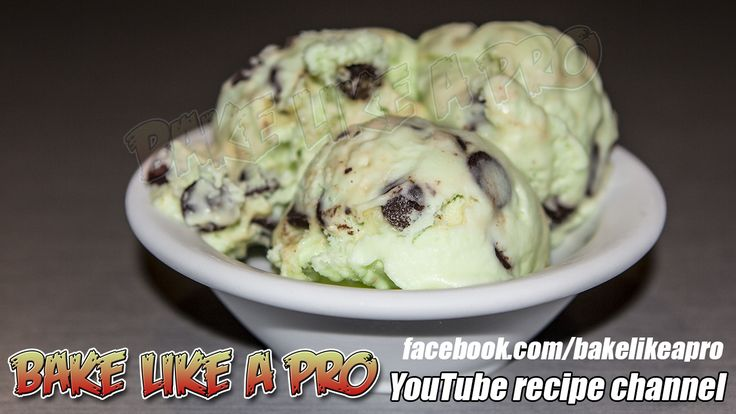 My Super Easy Mint Chocolate Chip Ice Cream Recipe  -CLICK TO SEE VIDEO RECIPE on my YouTube channel