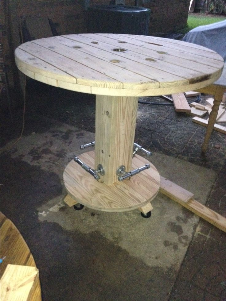19 best my cable spool high top bar table images on