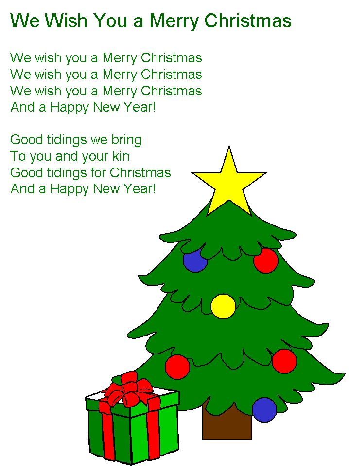 We Wish You A Merry Christmas lyrics | christmas | Christmas, Merry ...