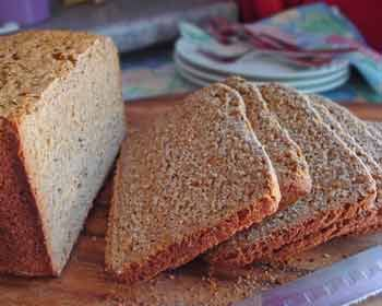 German rye bread using a bread machine. How easy is that! http://www.quick-german-recipes.com/rye-bread-recipe.html