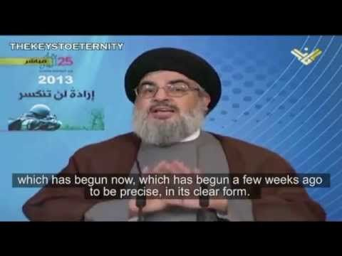 Hezbollah Leader on Syria War & Spread of Al-Qaeda 'Disease' (English Subs) - Find the latest Israel cartoons and the latest news on Israel and the Middle East at http://www.israelnewsreport.net/hezbollah-leader-on-syria-war-spread-of-al-qaeda-disease-english-subs/
