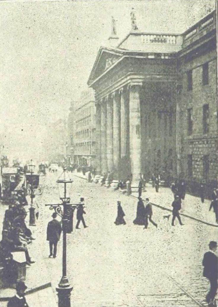 The GPO on Sackville Street 1895. Now O'Connell Street.