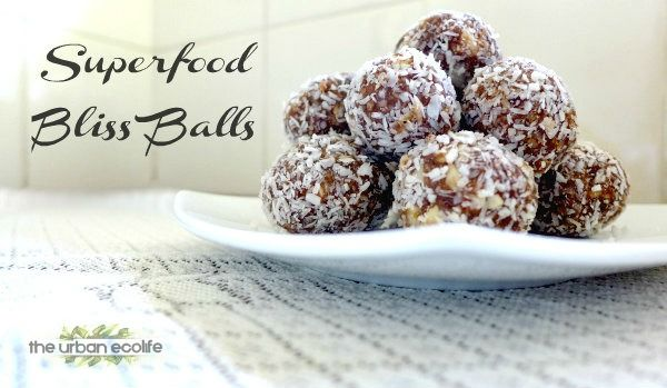 Superfood Bliss Balls (Raw Vegan, Paleo, Dairy & Gluten-Free) - The Urban Ecolife (can be nut free)