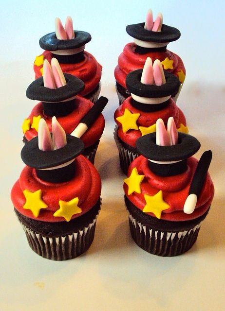 Magician Cupcakes... maybe this could be my sons theme for his birthday party